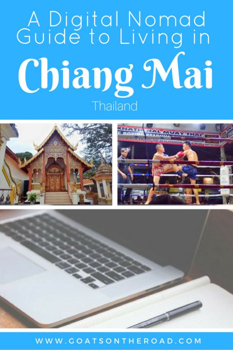 How to travel and live in Chiang Mai, Thailand, as a digital nomad, including accommodations and co-working spaces