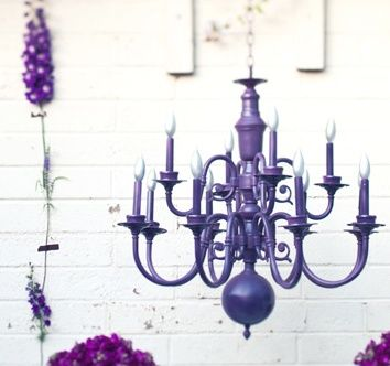 Funky Chandeliers from those old cheaper brass ones.