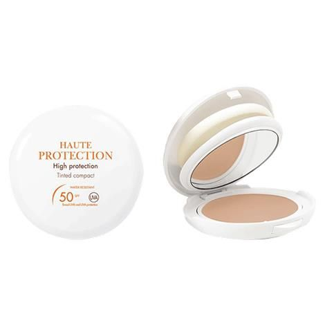 Avene Mineral High Protection Tinted Compact With SPF 50: It provides broad spectrum SPF 50 UVA/UVB protection.  It is 100% mineral sunscreen in a light, cream-to-powder formula enriched with a powerful photostable anti-oxidant.