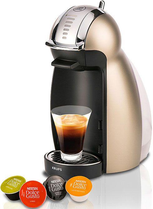 Krups KP160T Dolce Gusto Genio2 Titan  Krups KP160T Dolce Gusto Genio2 Titan: Maakt koffie zetten leuk! De Krups KP160T maakt koffie zetten leuk en heel erg eenvoudig! Scroll simpelweg het wieltje naar de aanbevolen dosering van de capsuleen je krijgt de perfecte kop koffie. De NESCAFÉ Dolce Gusto Genio is misschien klein van formaat maar groots in het maken van de beste warme en koude dranken. Je geniet van een hoge kwaliteit koffie dankzij de professionele pompdruk van 15 bar. De KP160T…