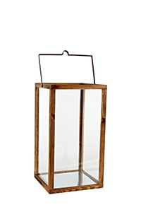 WOOD AND GLASS URBAN LANTERN