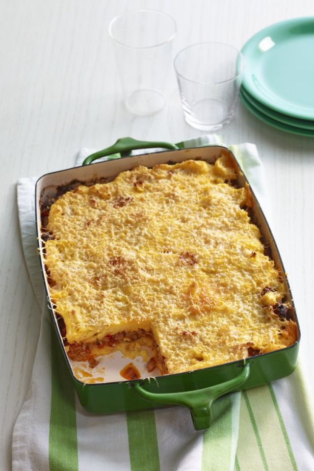 Sausage and Pepper Polenta Lasagna