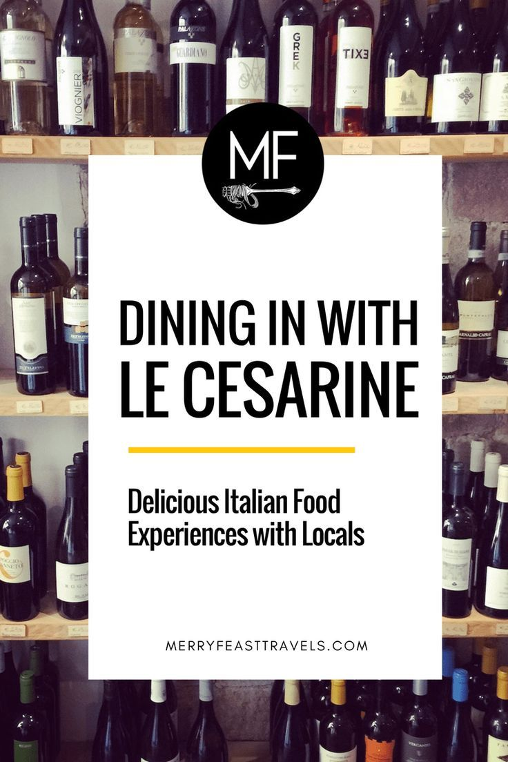 Italy Travel Tips: Dining In with Le Cesarine (Delicious Italian Food Experiences with Locals)  Have you ever wished you could have dinner with a local family when you travel? Le Cesarine is the perfect fit for you! It is such a great way to dive deeper into the food + culture of wherever you are traveling, and make new friends at the same time!      Check out Le Cesarine and my story of dining with home chef Massimo + his wife Federica in Rome.   www.merryfeasttravels.com