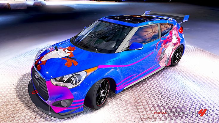Hyundai Veloster # 37 of ricou in the window of Forza Motorsport 4