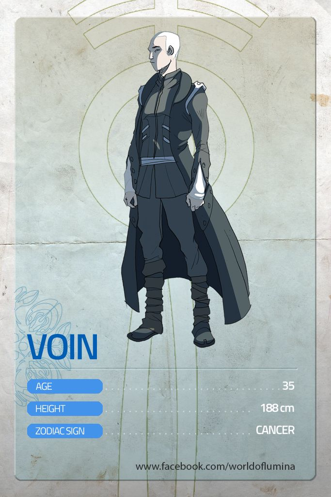 And here's VOIN. No story is a good story without a great villain.  Our target is still very far! Please contribute and share to see Lùmina become REALITY!!!  http://goo.gl/DJeyNw  -- Cold, charming and cynical, Voin is both a great strategist and a great, almost invincible warrior. He could brand any blade with ease and precision, just as a calligraph uses his brush. But above all, he's the General of the army of the Black Shadows. He's a legend.