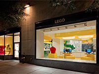 """If you have a kid like mine, you'll need to go to The LEGO Store at Rockefeller Center. This is also one of five Lego Stores in the US where you can buy the Brickley 3300001 set. And you can see """"him"""" winding through this store."""