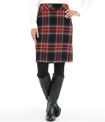 LL bean plaid skirt