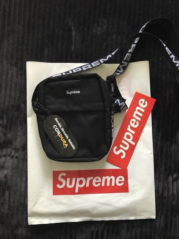 5d28a725ce47 SUPREME Shoulder Bag Black SS18 NWT  fashion  clothing  shoes  accessories   mensaccessories  bags (ebay link)