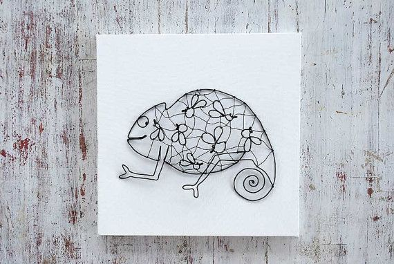 chameleon by WireDreams on Etsy, $36.00