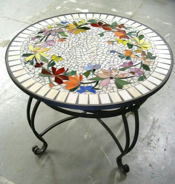 Mosaic table.                                                                                                                                                                                 More