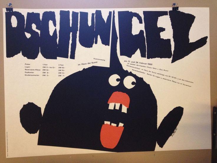 PLAKAT FASCHING MÜNCHEN 1968 DSCHUNGEL HAUS DER KUNST | eBay