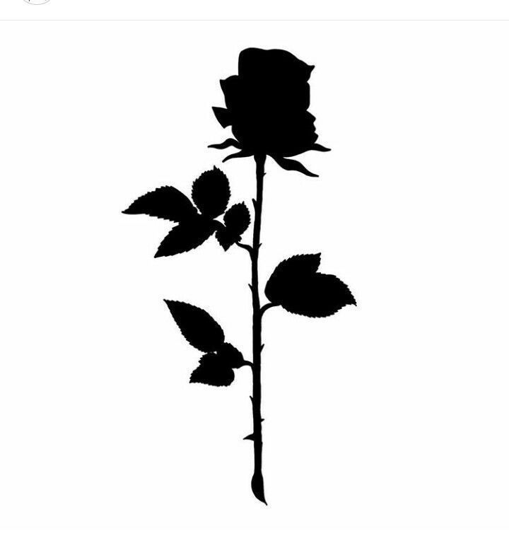 Rose - Papierbasteln in 2020 | Black rose tattoos, Black ...