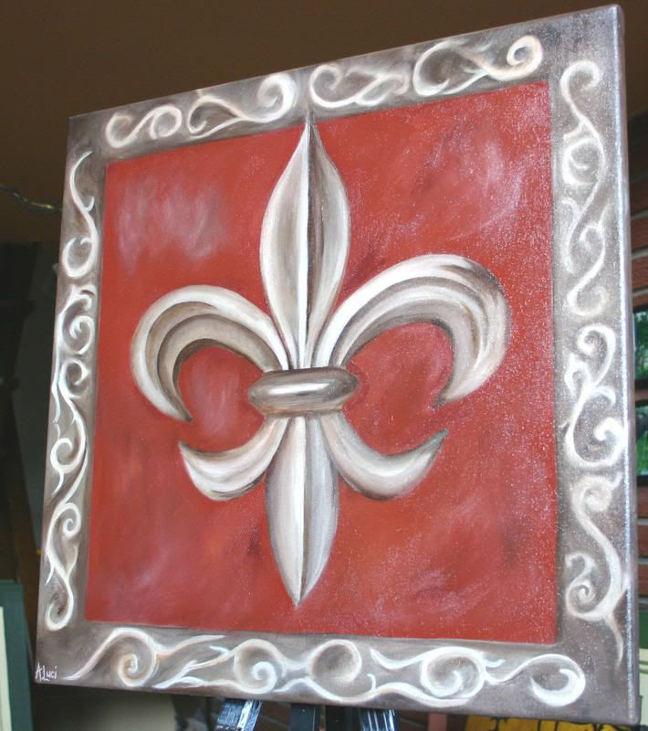 73 best fleur de lis images on pinterest louisiana lily - Fleur paint ...