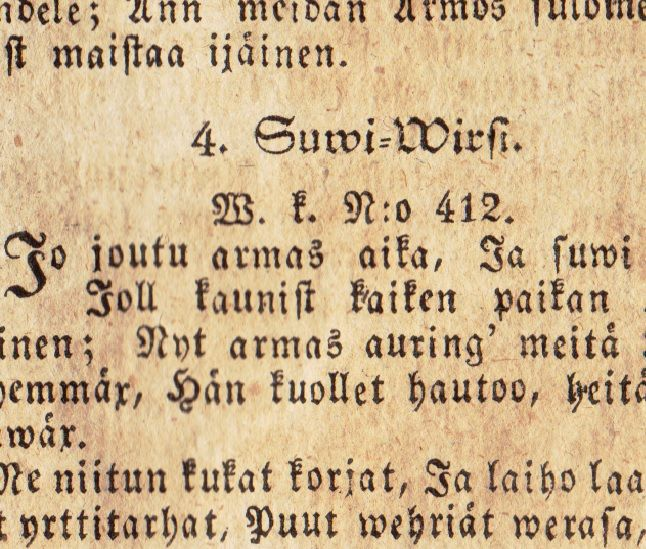 A glimps of my old Finnish book from the year 1829. ** I can read that throughout, despite the old Finnish language and characters.