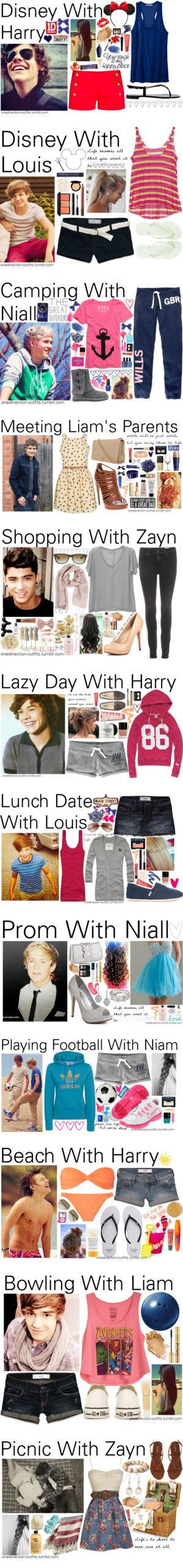 """One Direction Outfits 0 - 20 x"" by onedirection-outfits ❤ liked on Polyvore I don't like one direction but these clothes are adorable!"
