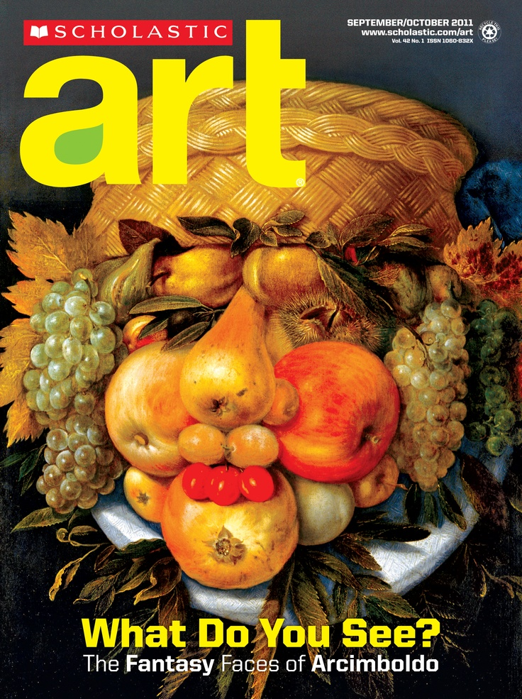 Scholastic Art:The Fantasy Faces of Arcimboldo check out this board