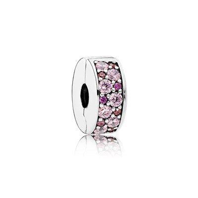 Klips Różowa mozaika - 791817CZSMX