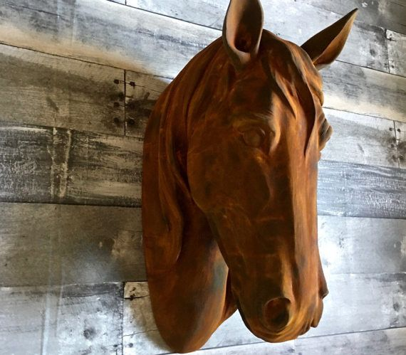 Large Faux Taxidermy Horse Head Wall Mount Hanging By Mysecretlite