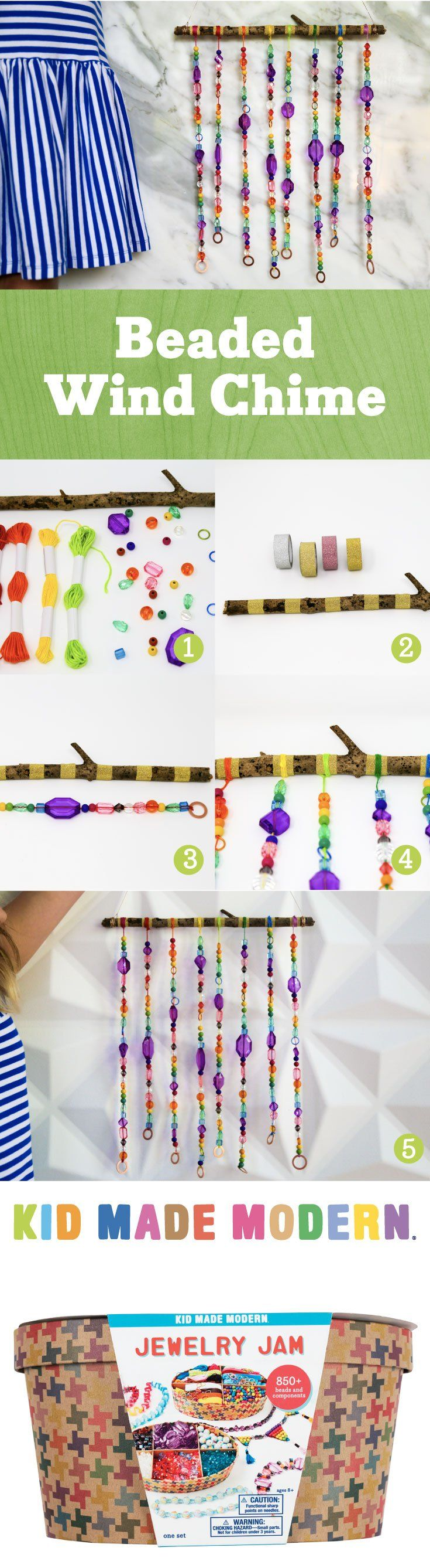 Craft Diy Beaded Wind Chimes With This Colorful And Simple