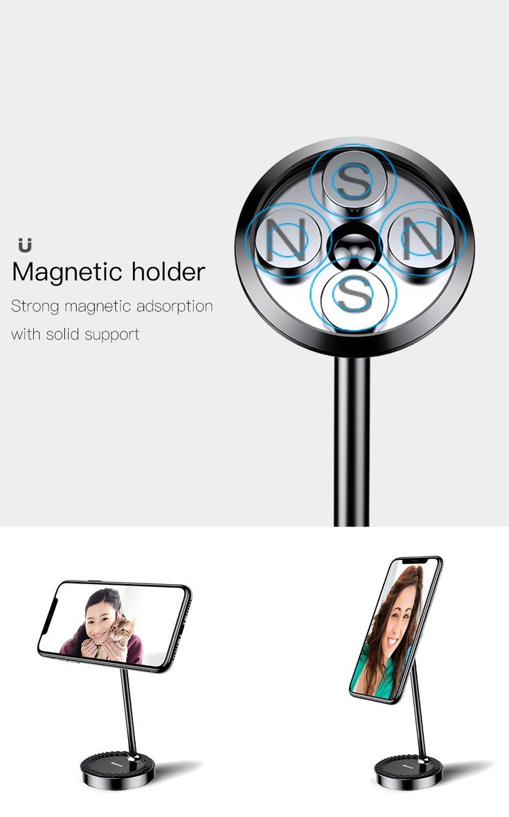 Baseus 360 Degree Rotation Magnetic Lazy Holder Desktop Phone Stand for iPhone 8 Samsung S8 Xiaomi 6