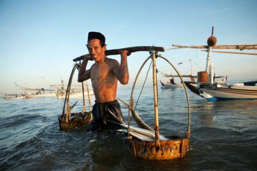 a Fisherman (Ambunten Madura east java. Indonesia