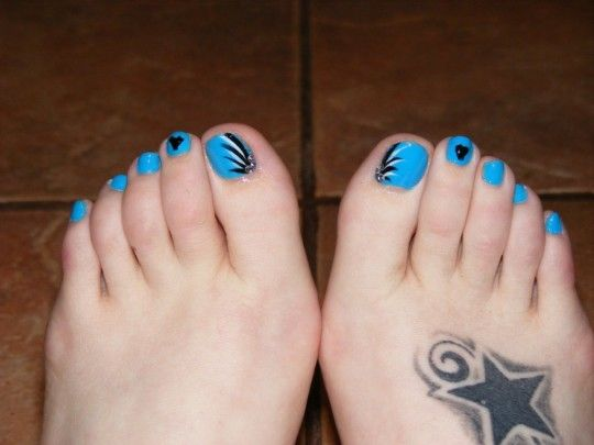 Blue Toe Nail Art Step By Step Design - pictures, photos, images
