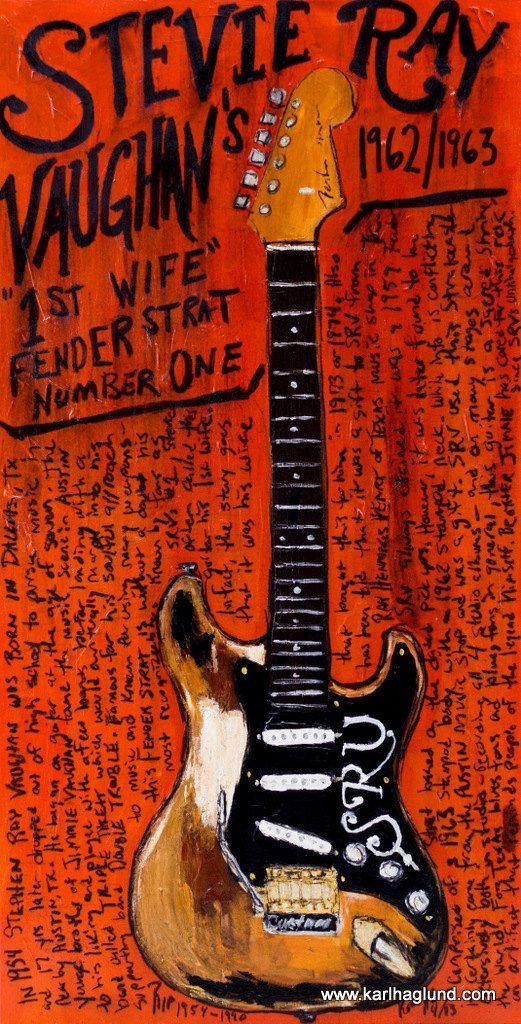 Stevie Ray Vaughan Fender Stratocaster no.1 by KarlHaglundArt, $20.00