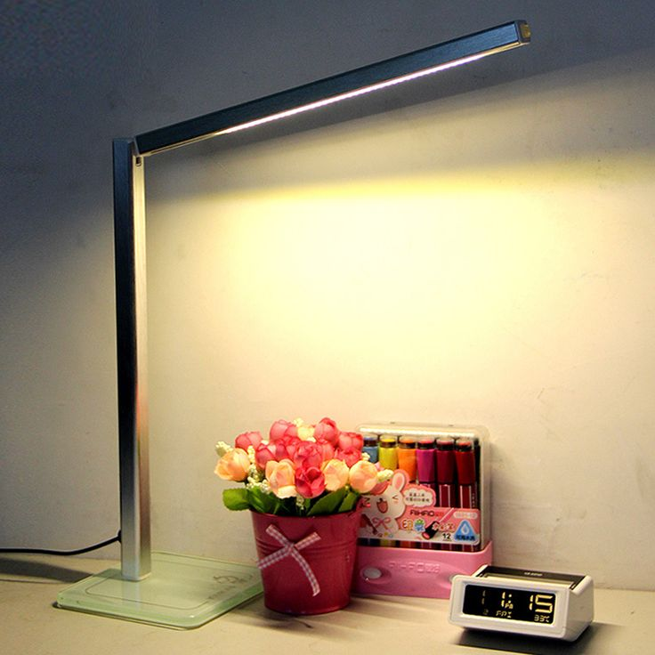Eyesight Protection LED Reading Lamp Foldable Desk Natural Steps Dimming With Glass Base Living Room Design