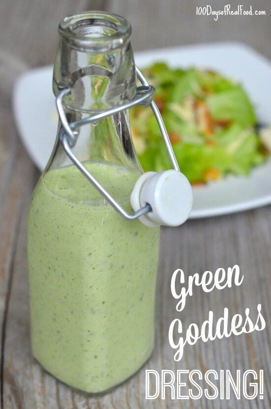 Whip up this green goddess salad dressing for - you guessed it - salads, or use it on a wrap, or as a veggie dip. It's delicious and quick to prepare!