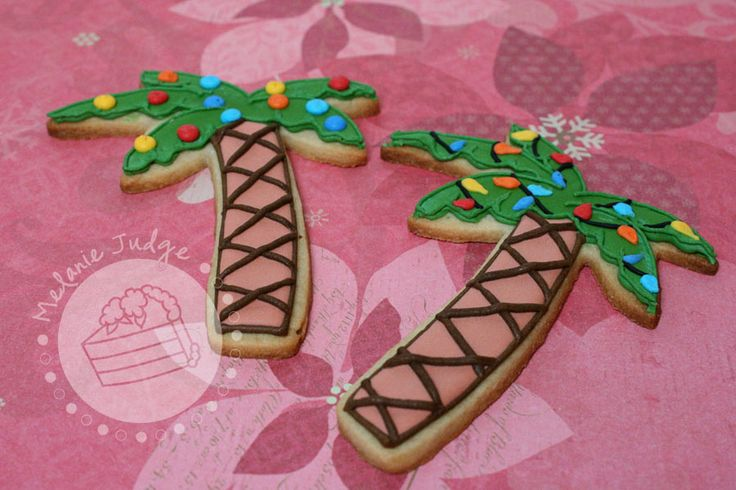 Christmas in Hawaii - Christmas palm tree cookies