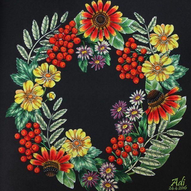 Blomstermandala Mariatrolle Pastelpolychromos Fabercastellart Drawing Stabilo Mandala ColoringFlower