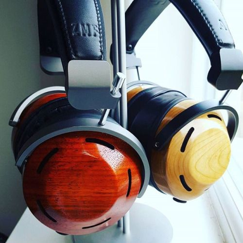 Got a nice stand for these. #zmfheadphones #audiophile #hifi #aornic #eikon #atticus #headphones #woodworking #wood #cherry #padauk via Audiophiles on Instagram - Best Sound Quality Audiophile Headphones and High-Fidelity Premium Earbuds for Hi-Fi Music Lovers by AudiophileCans