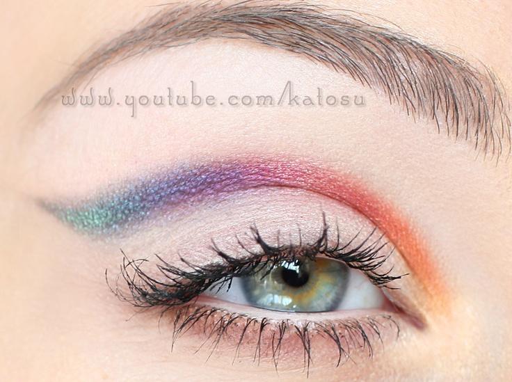 Crease rainbow. My FB fan page: http://www.facebook.com/pages/KatOsu/193356810711045: Makeup Geek, Rainbows Eye Makeup, Eye Shadows, Makeup Ideas, Makeup Art, Editorial Makeup, Crea Rainbows, Eyeshadows Makeup, Shadows Eyeshadows