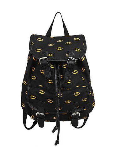 Batman Backpack DC Comics Dark Knight Logo Backpack Slouch Buckle Book Bag | eBay