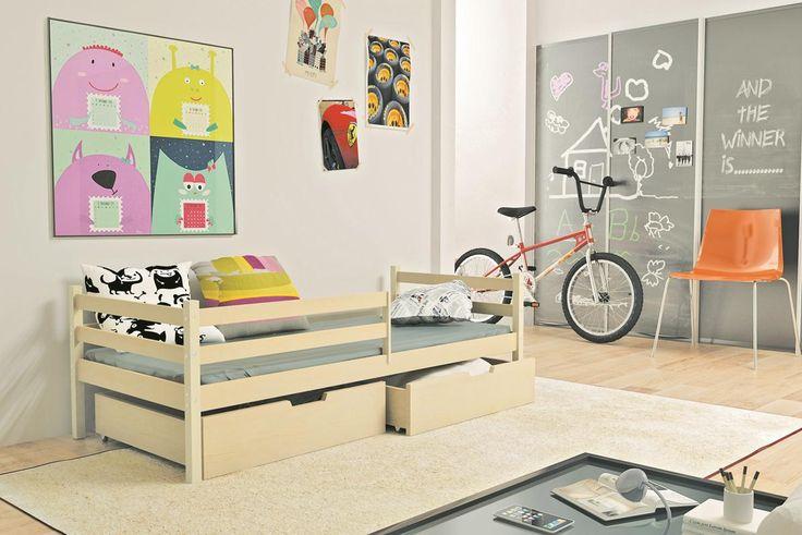 Kinderbett Simon mit großen Bettkästen in 2 unterschiedlichen Dekoren Diese Kinderbetten unterscheiden sich von anderen in Kreativität, Schönheit und durch den Einsatz...  #kinder #kinderzimmer #kinderbett #bettkasten