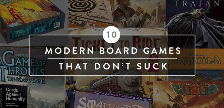 10 Modern Board Games That Don't Suck