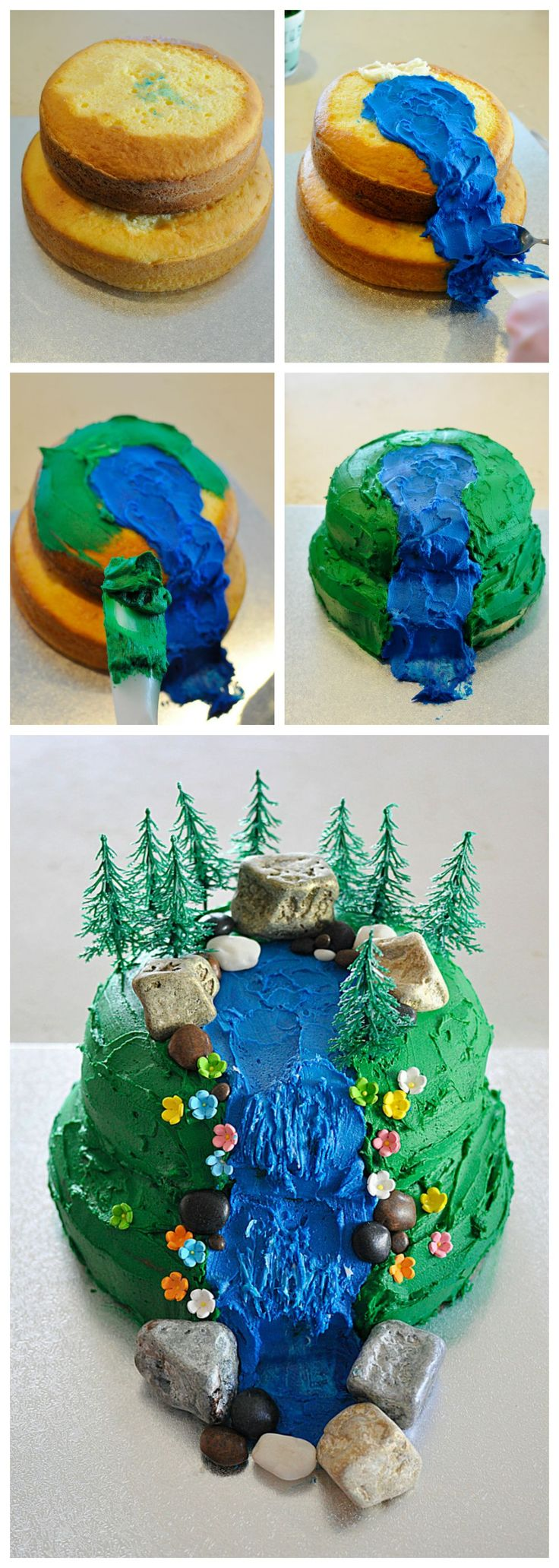How to make a waterfall cake - check out the blog to see how easy it is and all the elements you need