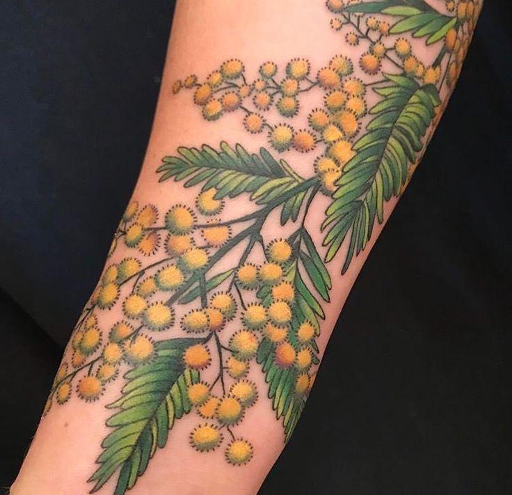 Flower tattoo by Kim Saigh at Memoir Tattoo