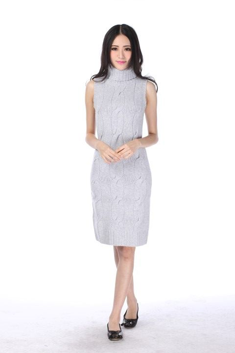 Knitted dress EIFFEL Heather grey - EmKha