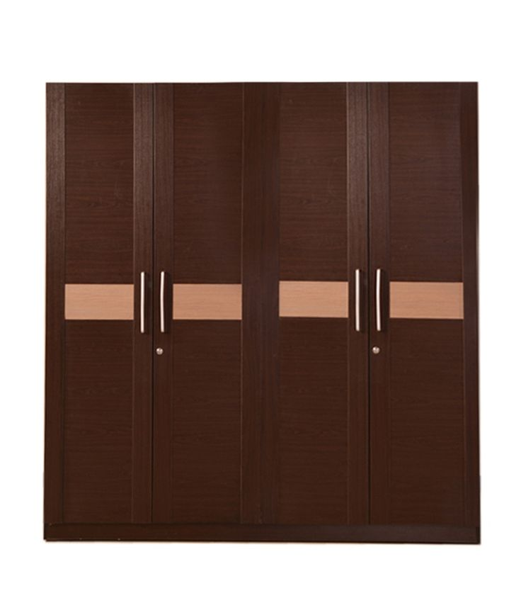 HomeTown Magna 4 Door Wardrobe in Walnut_600404074001, http://www.snapdeal.com/product/hometown-magna-4-door-wardrobe/296138202