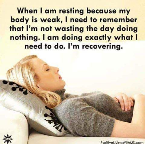 """Whenever I feel bad about a day where I """"do nothing"""" I have to remind myself this."""