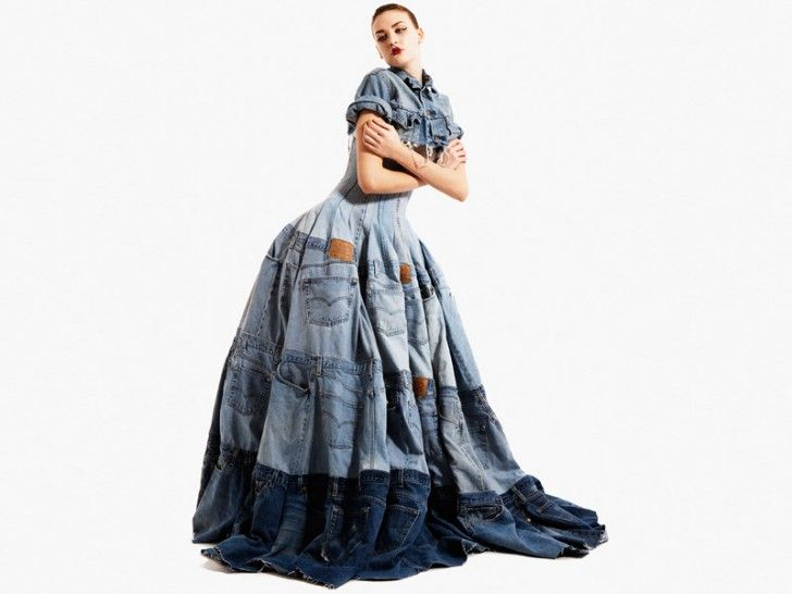 :: Waste Not Do Want: 7 Designer Looks from Recycled Denim Jeans + Ecouterre Recycled Denim Challenge Finalists ...