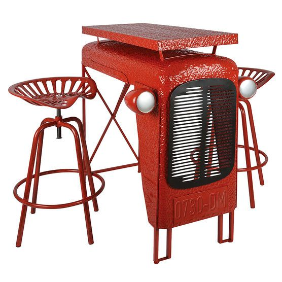 Tractor Table & Chairs Set - Red