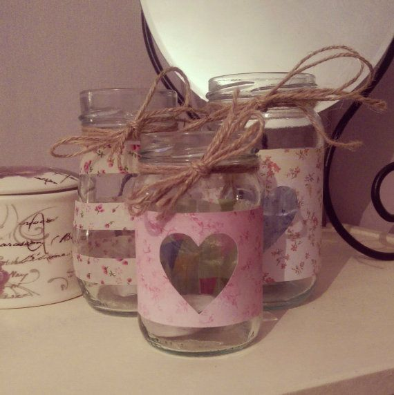 handmade by me :) https://www.etsy.com/listing/197763661/jam-jar-tealight-trio-candle-holder