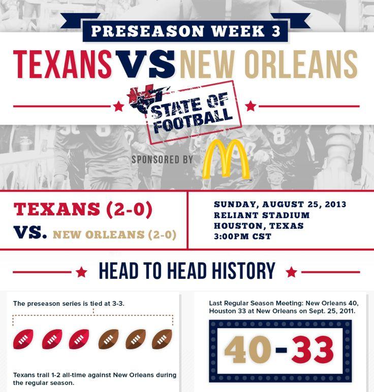 Texans Vs Saints.  Preseason week 3