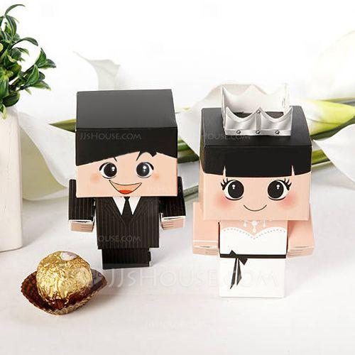 Bride & Groom Favor Boxes (Set of 12) (050005790) - JJsHouse