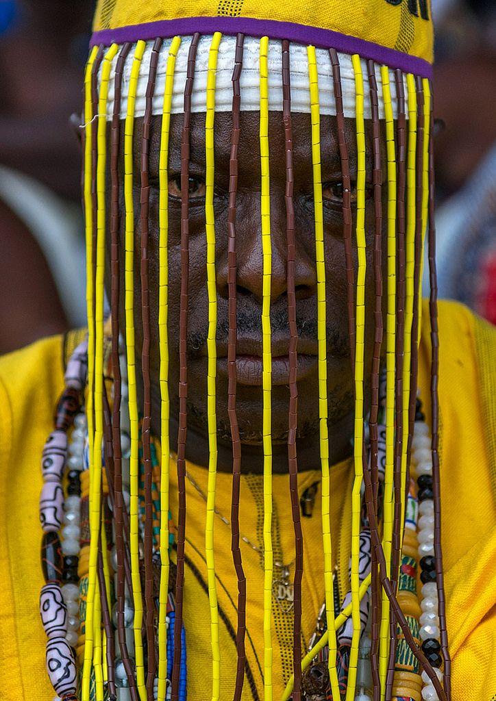 https://flic.kr/p/yeov9h | Benin, West Africa, Ouidah, dada vognon adidékon famous healer with a mask hiding his face | © Eric Lafforgue www.ericlafforgue.com