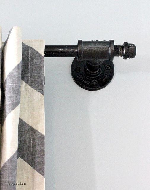 Conduit Curtain Rod Diy Galvanized Pipe Curtain Rod