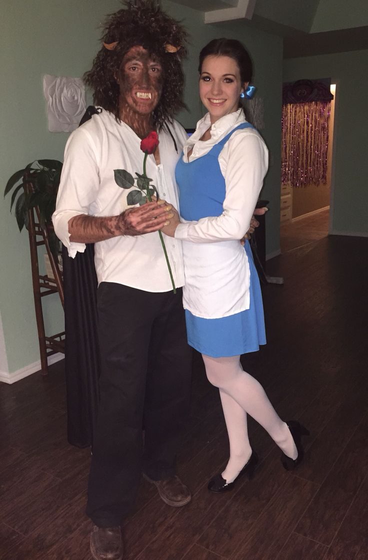 Homemade beauty and the beast couples costume. Halloween2014