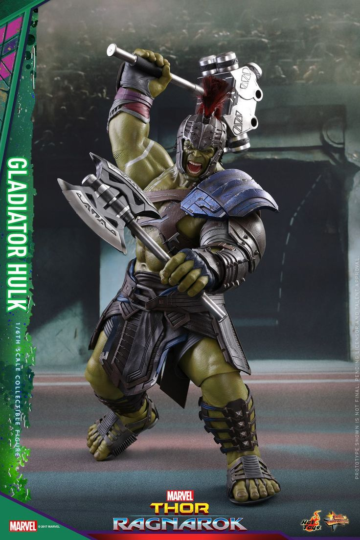 The Hot Toys Thor: Ragnarok Gladiator Hulk 1/6 Scale Figure is the second in the line of products from the upcoming film.